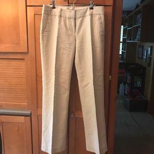 JCrew City Fit linen pants size 6